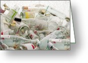 Clear Glass Greeting Cards - Glass Recycling Greeting Card by Victor De Schwanberg