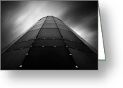 Dave Greeting Cards - Glass Tower Greeting Card by David Bowman