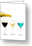 Pouring Greeting Cards - Glasses and Bottle Greeting Card by Marius Sipa