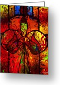 Johnny Trippick Greeting Cards - Glassfire Greeting Card by Johnny Trippick