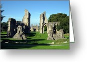 Somerset Greeting Cards - Glastonbury Abbey 1 Greeting Card by Kurt Van Wagner