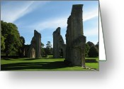 King Arthur Greeting Cards - Glastonbury Abbey 3 Greeting Card by Kurt Van Wagner