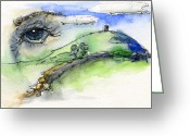 Tor Painting Greeting Cards - Glastonbury Tor and Eye Greeting Card by John D Benson