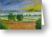 Tor Painting Greeting Cards - Glastonbury Tor Somerset Greeting Card by Tony Williams