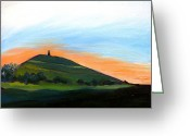 Tor Painting Greeting Cards - Glastonbury Tor Sunrise Greeting Card by Susan Tower