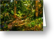 Johnny Trippick Greeting Cards - Gleann Sithean Greeting Card by Johnny Trippick