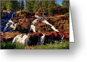 Fallen Leaf Greeting Cards - Glen Alpine Falls Greeting Card by Scott McGuire