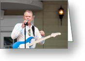 Grammy Greeting Cards - Glen Campbell Farewell Tour 2 Greeting Card by Kenneth Albin