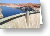 Hydroelectric Greeting Cards - Glen Canyon Dam Greeting Card by Will Borden