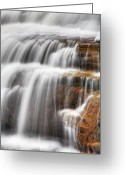 Ellicott Greeting Cards - Glen Falls Detail Greeting Card by James Marvin Phelps