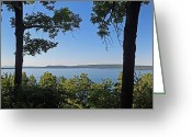 Inspiration Point Greeting Cards - Glen Lake from inspiration Point Greeting Card by Twenty Two North Gallery