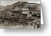 Coal  Greeting Cards - Glen Lyon PA Susquehanna Coal Co Breaker late 1800s Greeting Card by Arthur Miller