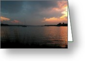 Occupy Greeting Cards - Glenmore reservoir - Sunset 3 Greeting Card by Stuart Turnbull