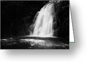 Flooding Greeting Cards - Gleno or Glenoe Waterfall county antrim northern ireland Greeting Card by Joe Fox