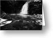 Flooding Greeting Cards - Gleno or Glenoe Waterfall county antrim northern ireland uk Greeting Card by Joe Fox