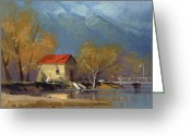 Shed Greeting Cards - Glenorchy Greeting Card by Richard Robinson