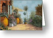 Tree Greeting Cards - Gli Otri Sul Terrazzo Greeting Card by Guido Borelli