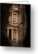 Ancient Civilization Greeting Cards - Glimpse Of Treasury Greeting Card by David Lazar