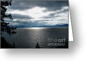 Rocky Mountain Posters Greeting Cards - Glistening Lake  Greeting Card by The Kepharts