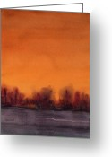 Gloaming Greeting Cards - Gloaming Greeting Card by Renee Chastant