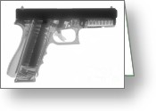 Firearms Photo Greeting Cards - Glock G17 Greeting Card by Ray Gunz