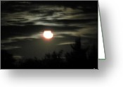 Tonight Greeting Cards - Gloomy Nights Greeting Card by Debra     Vatalaro