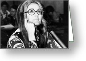 1970s Photo Greeting Cards - Gloria Steinem (1934-) Greeting Card by Granger