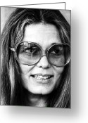 1977 Greeting Cards - Gloria Steinem (1934-) Greeting Card by Granger
