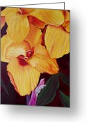 Canna Greeting Cards - Glorious Canna Lily Greeting Card by Wayne Devon