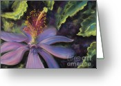 Flower. Petals Pastels Greeting Cards - Glorious Greeting Card by Debbie Harding