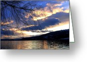 Sundown Greeting Cards - Glorious Twilight Hour Greeting Card by Will Borden