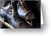 Antique Skates Greeting Cards - Glory Days Greeting Card by Lori St Clair