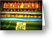 Oatman Greeting Cards - Glory Hole Sign Greeting Card by Randall Weidner