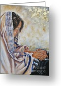 Biblical Greeting Cards - Glory in His Name Greeting Card by Ilse Kleyn