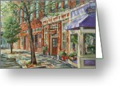 Store Fronts Greeting Cards - Gloucester Around Town Greeting Card by Sharon Jordan Bahosh