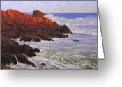 Ocean Scenes Greeting Cards - Gloucester Surf Greeting Card by Cody DeLong