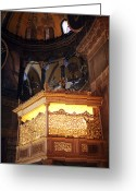 Aya Sofya Greeting Cards - Glowing in the Sophia Greeting Card by John Rizzuto