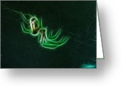 Fractalius Art Greeting Cards - Glowing Spider Greeting Card by Paul Ward