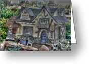 Gnome Greeting Cards - Gnome Castle Greeting Card by David Bearden