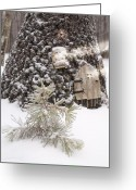 Gnome Greeting Cards - Gnome Home in Snow Monterey Tennessee Greeting Card by Douglas Barnett