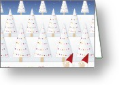 Christmas Lights Greeting Cards - Gnomes - December Greeting Card by ©cupofsnowflakes