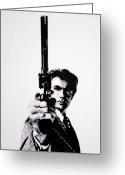 Clint Eastwood Greeting Cards - Go Ahead Punk Make My Day Greeting Card by Luis Ludzska