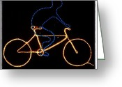 Bicycle Greeting Cards - Go Cycle #bicycle #cycle #graceland25 Greeting Card by A Rey