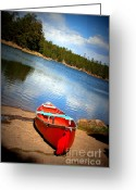 Dusty Road Greeting Cards - Go Float Your Boat Greeting Card by Julie Lueders 