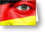 German Football Greeting Cards - Go Germany Greeting Card by Semmick Photo