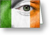 Cheering Greeting Cards - Go Ireland Greeting Card by Semmick Photo