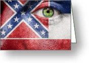 Tricolor Greeting Cards - Go Mississippi Greeting Card by Semmick Photo
