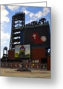 Citizens Bank Park  Greeting Cards - Go Phillies - Citizens Bank Park - Left Field Gate Greeting Card by Bill Cannon