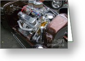 Ford Engine Greeting Cards - Go Power Greeting Card by Mary Deal