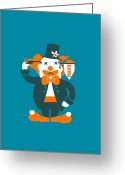 Clown Greeting Cards - Go with a bang Greeting Card by Budi Satria Kwan